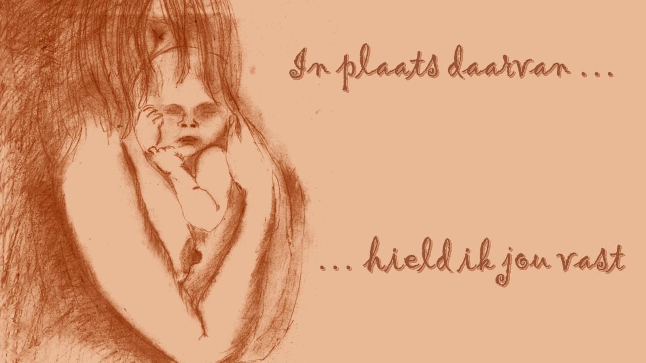 in plaats daarvan, wat zegt de huilende baby